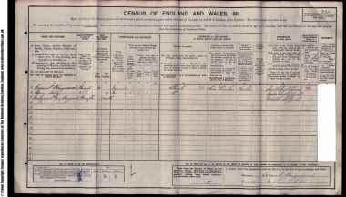 Hayward Family 1911 Census
