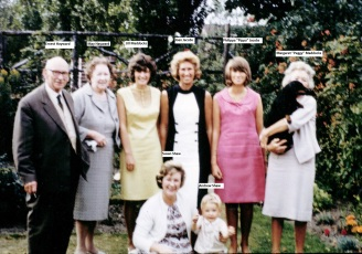 Hayward Family Group, Southport c.1962 with Names