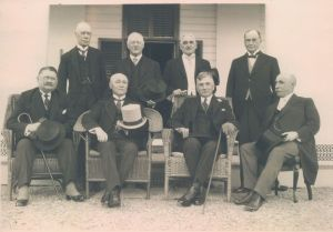 Henry Cockshutt seated second from the right.