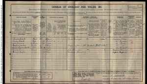 1911 Census for the Roberts family