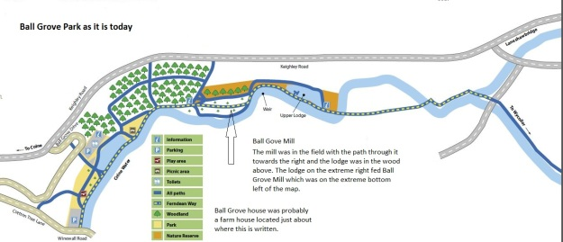 Map of Ball Grove Park today